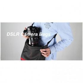 HUWANG Tas Kamera Selempang DSLR Hand Bag - TS-S06 - Gray - 6