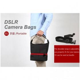 HUWANG Tas Kamera Selempang DSLR Hand Bag - TS-S06 - Gray - 7