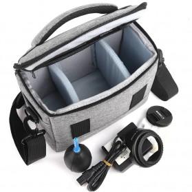HUWANG Tas Kamera Selempang DSLR Shoulder Bag - TS-S07 - Black - 8