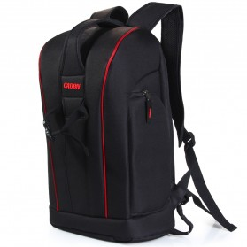 Caden Tas Ransel Kamera DSLR Waterproof - K6 - Black/Red