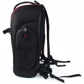 Caden Tas Ransel Kamera DSLR Waterproof - K6 - Black/Red - 2