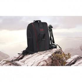 Caden Tas Ransel Kamera DSLR Waterproof - K6 - Black/Red - 9
