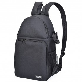 Action Camera, Camera, Tripod, Camera Case - CADEN Tas Ransel Backpack Kamera DSLR Anti Air Shockproof Scratch Resistant - CAD15 - Black