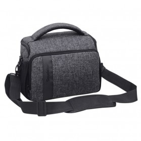 Soudelor Tas Selempang Kamera DSLR for Canon Nikon - 1705 - Black