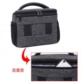 Soudelor Tas Selempang Kamera DSLR for Canon Nikon - 1705 - Black - 3