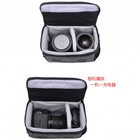Soudelor Tas Selempang Kamera DSLR for Canon Nikon - 1705 - Black - 7