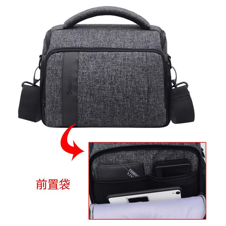 ... Soudelor Tas Selempang Kamera DSLR for Canon Nikon - 1705 - Black - 2  ... 765535d99e