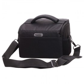 Soudelor Tas Selempang Kamera DSLR for Canon Nikon - 5002 - Black
