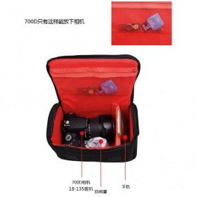Soudelor Tas Selempang Kamera DSLR for Canon Nikon - 5002 - Black - 6