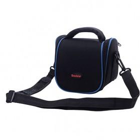 Soudelor Tas Selempang Kamera DSLR for Canon Nikon - 1204 - Blue