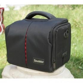 Soudelor Tas Selempang Kamera DSLR for Canon Nikon - SDL-EOS-S - Black - 2