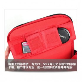 Soudelor Tas Selempang Kamera DSLR for Canon Nikon - SDL-EOS-S - Black - 4