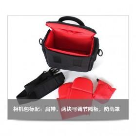 Soudelor Tas Selempang Kamera DSLR for Canon Nikon - SDL-EOS-S - Black - 5