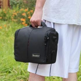Soudelor Tas Selempang Kamera DSLR for Canon Nikon - SDL-EOS-S - Black - 9