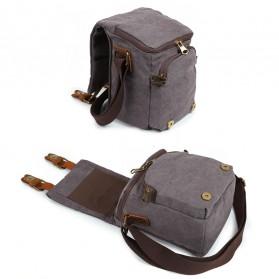 G-FAVOR Tas Selempang Kamera DSLR for Canon Nikon - YD3229 - Black - 5