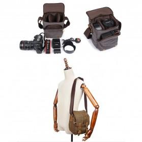 G-FAVOR Tas Selempang Kamera DSLR for Canon Nikon - YD3229 - Black - 7
