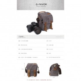 G-FAVOR Tas Selempang Kamera DSLR for Canon Nikon - YD3229 - Black - 8