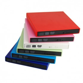 Hitachi GT20F USB DVD-RW Labelflash Superslim Drive SATA Interface - Silver