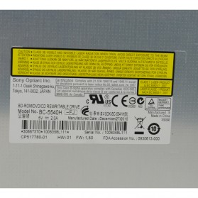 Sony Optiarc BC-5540H Bluray Internal Optical Drive Tanpa Penutup - Silver - 3