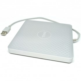 External / Portable Optical Drive - Dell A13DVD01 USB 2.0 8X DVD-RW Portable Optical Drive (14 DAYS) - Silver