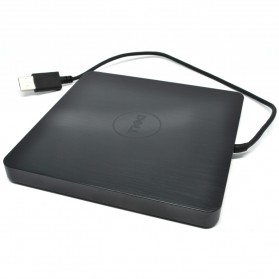 External / Portable Optical Drive - Dell A13DVD01 USB 2.0 8X DVD-RW Portable Optical Drive (14 DAYS) - Black