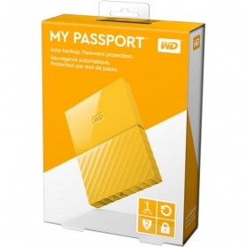 WD My Passport Colorful 3rd Generation USB 3.0 1TB - Yellow - 7