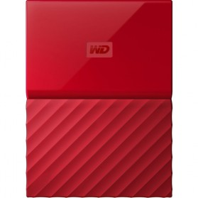 WD My Passport Colorful 3rd Generation USB 3.0 2TB - Red - 2