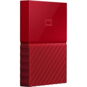 WD My Passport Colorful 3rd Generation USB 3.0 2TB - Red - 3