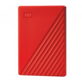 WD My Passport USB 3.2 2TB Harddisk Eksternal - Red