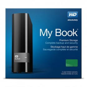 WD My Book USB 3.0 External Hard Drive 3.5 Inch - 4TB - Black - 6
