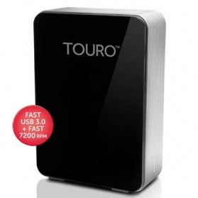 HGST Touro Desk Pro External Hard Drive 3.5 Inch USB 3.0 + Cloud Storage - 4TB - Black