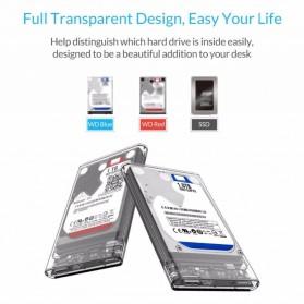 WEIXINBUY Hard Drive Enclosure 2.5 Inch USB 3.0 - WX537 - Transparent - 5