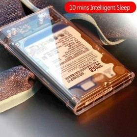 WEIXINBUY Hard Drive Enclosure 2.5 Inch USB 3.0 - WX537 - Transparent - 7