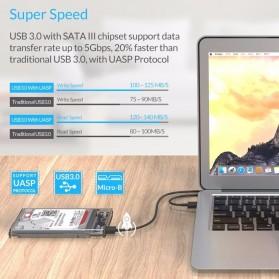 WEIXINBUY Hard Drive Enclosure 2.5 Inch USB 3.0 - WX537 - Transparent - 8