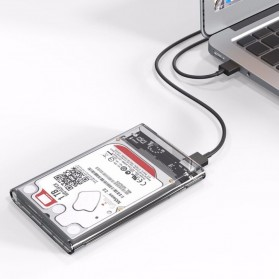 WEIXINBUY Hard Drive Enclosure 2.5 Inch USB 3.0 - WX537 - Transparent - 9