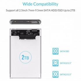 WEIXINBUY Hard Drive Enclosure 2.5 Inch USB 3.0 - WX537 - Transparent - 10