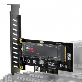 AMPCOM M.2 NVME SSD to PCI-E 4.0 X4 Expansion Adapter Card - SK4 - Black