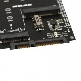 ESHYLA Adaptor Konventer M.2 NGFF MSata SSD to SATA III 2.5 Inch - BBAB-2 - Black - 4