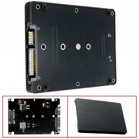 XIEDE M.2 NGFF SSD to 2.5 inch SATA 3 Adapter Card Enclosure 8mm - M2N25 - Black