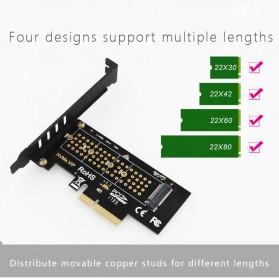 JEYI M.2 NVME to PCI-E 3.0 X4 Expansion Card - SK4 - Black - 7