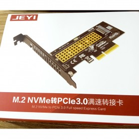 JEYI M.2 NVME to PCI-E 3.0 X4 Expansion Card - SK4 - Black - 14