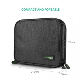 Ugreen Tas Organizer Gadget Storage Bag - LP139 - Black - 7