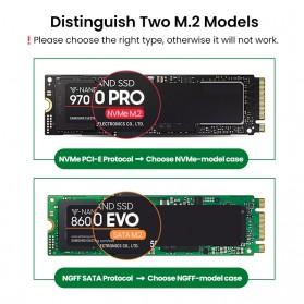 UGREEN NGFF SATA M.2 SSD to USB Type C 3.1 Adaptor Enclosure Box 6Gbps - 60355 - Gray - 3