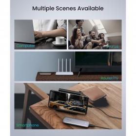 UGREEN NGFF SATA M.2 SSD to USB Type C 3.1 Adaptor Enclosure Box 6Gbps - 60355 - Gray - 6