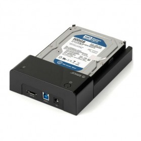 Orico 2.5/3.5 Inch Horizontal Mobile Hard Disk Seat USB 3.0 e-Sata - 6518SUS3 - Black - 2