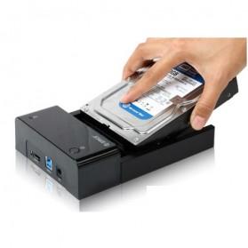 Orico 2.5/3.5 Inch Horizontal Mobile Hard Disk Seat USB 3.0 e-Sata - 6518SUS3 - Black - 4