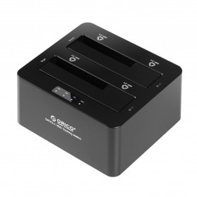 Orico USB 3.0 2-bay 2.5/3.5 SATA III HDD Docking Station - 6629S3 - Black