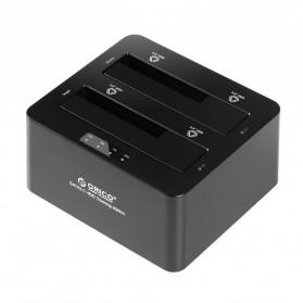 Orico USB 3.0 2-bay 2.5/3.5 SATA III HDD Docking Station - 6629S3 - Black