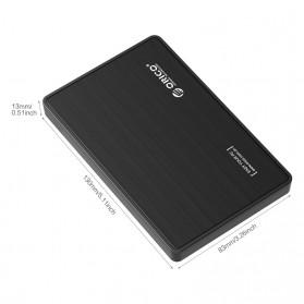 Orico 1-Bay 2.5 Inch External HDD Enclosure Sata 3 USB 3.0 - 2588S3 - Black - 4