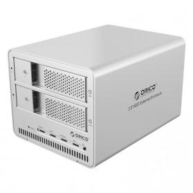 Orico 2-Bay 3.5 SATA HDD RAID Enclosure - 9528RU3 - Silver